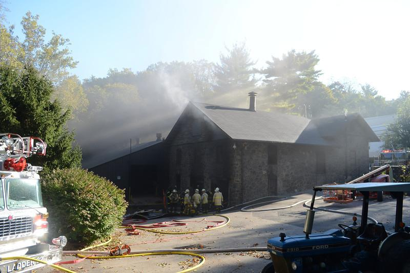 Firefighters respond to Garage Fire